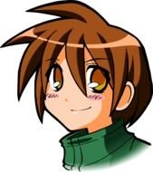 boy with brown hair and brown eyes as a clipart