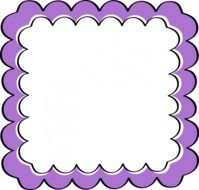 Purple and white Frame, Border