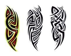 three Tribal Tattoos drawing