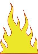clipart of the Fire Flames