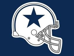 Logo of Dallas Cowboys with the helmet clipart