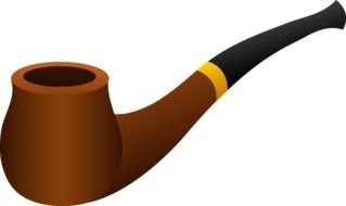 painted wooden smoking pipe