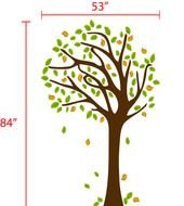 Blowing Tree Wall Decal drawing