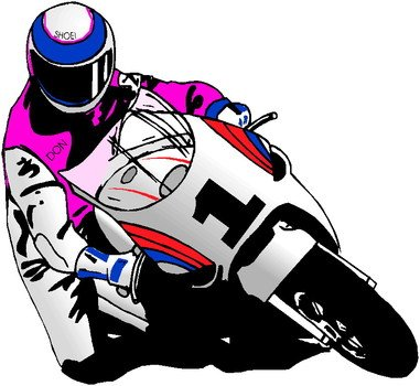 racing motorcyclist