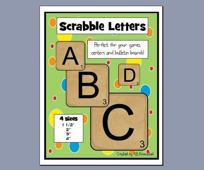 image relating to Printable Scrabble Letters named Printable Scrabble Letters no cost impression