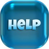 word many help button icon