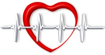 red heart and a white pulse rate in front of it
