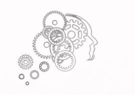clipart of gears in a human head