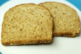 two slices of healthy wheat bread