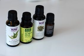 bottled essential oils