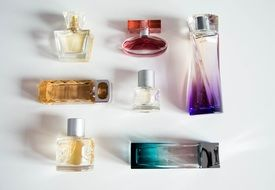 colorful perfume bottle senses