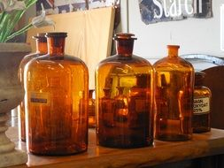 photo of the apothecary bottles