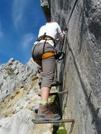photo of the climbing on a stone wall