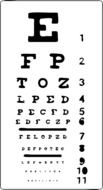 Clipart of eye chart