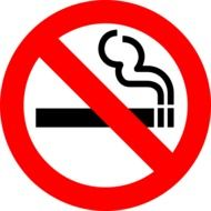 sign of non smoking zone