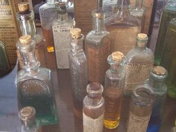 bottles vintage pharmacy