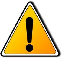 Clipart of warning sign