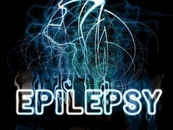 The lightning flash with the word epilepsy