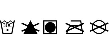 Clipart of Launder symbols
