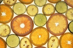 sliced of citrus fruits