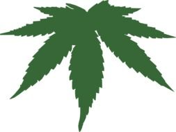 Clipart of marijuana herb