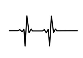 heart rate pulse drawing