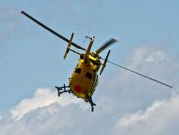 rrescue helicopter in the air