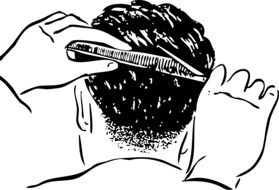 black and white drawing male haircuts
