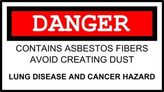 asbestos danger drawing