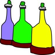 clipart of the colorful bottles