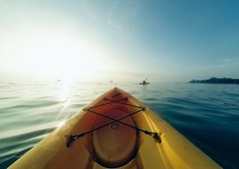 kayaking in sunny day