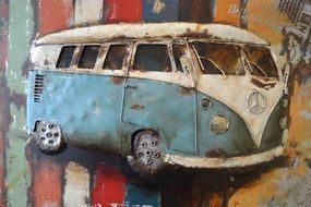 old car art work painting