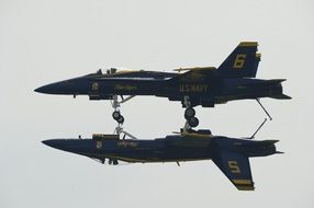 blue angels aircraft in the air