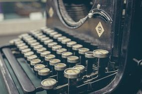 retro old typewriter