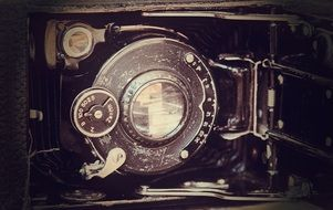 photograph of an antique camera