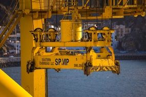 industry trade machine loading crane