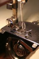 Closeup photo of sewing machine