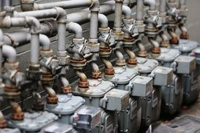 pumps in industry close up