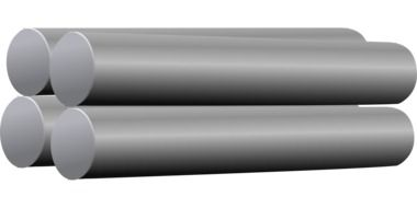 drawn four metal pipes