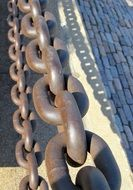 chain links big steel strong