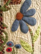 fabric flower patchwork work sewing