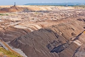 open pit mining technology of brown coal