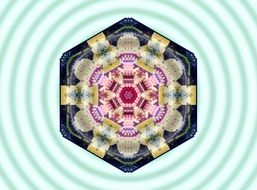 mandala as a closed geometric system