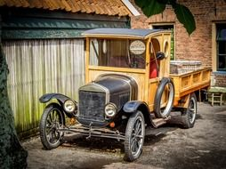 old car at zuiderzee museum