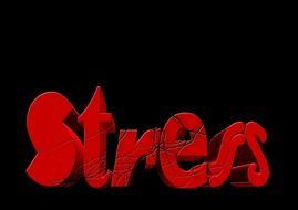 word stress written in red letters