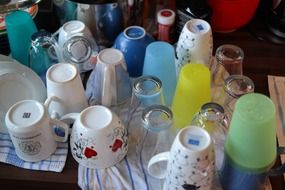 drying of washed tableware