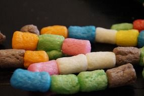 Colorful children's beads