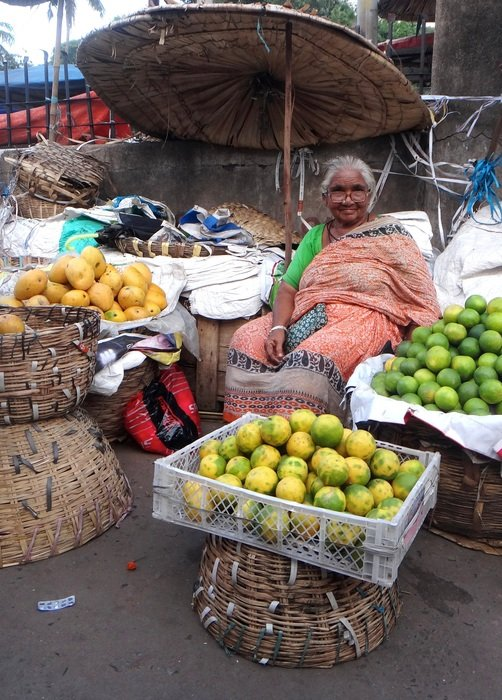 india woman on market