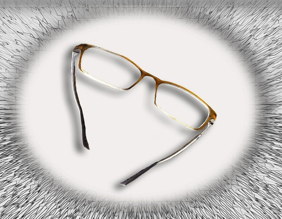 isolated eye glasses for reading
