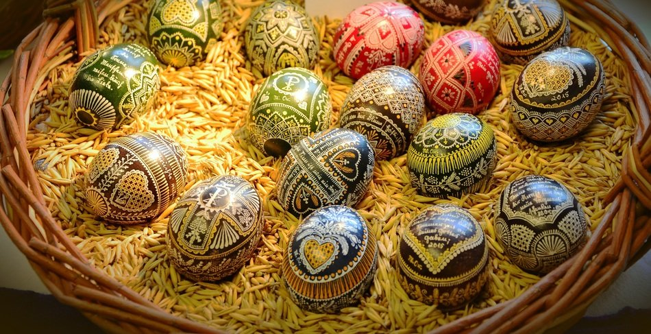 Painted beautiful easter eggs